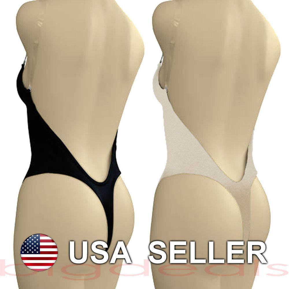 Backless Full Body Shaper Thong Convertible Seamless Low Back Max ...