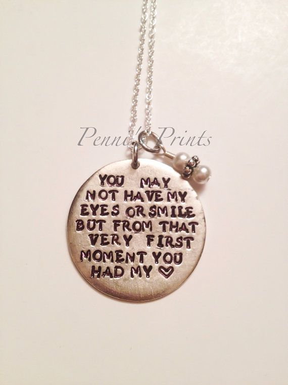 Hand Stamped Step Daughter Necklace Wedding Gift For