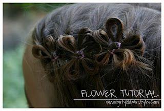Pretty Hair Flower Tutorial.