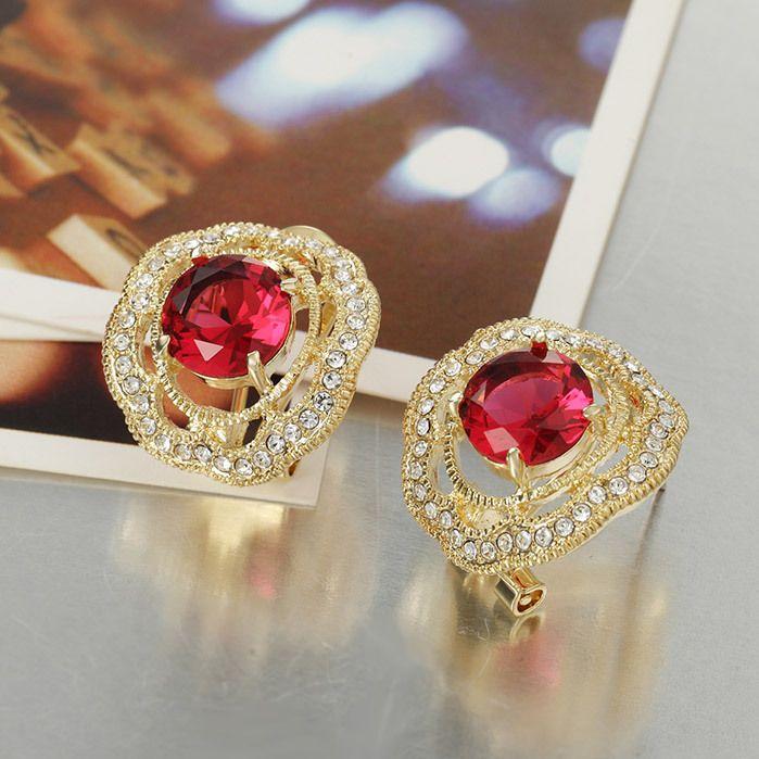 14K White Gold Full Diamond Cut Half Dome Hoop Earrings