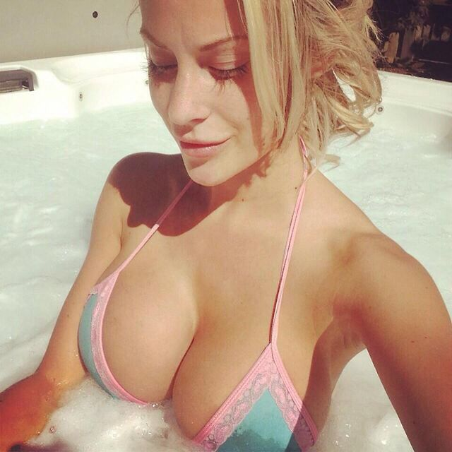 Blonde milf action