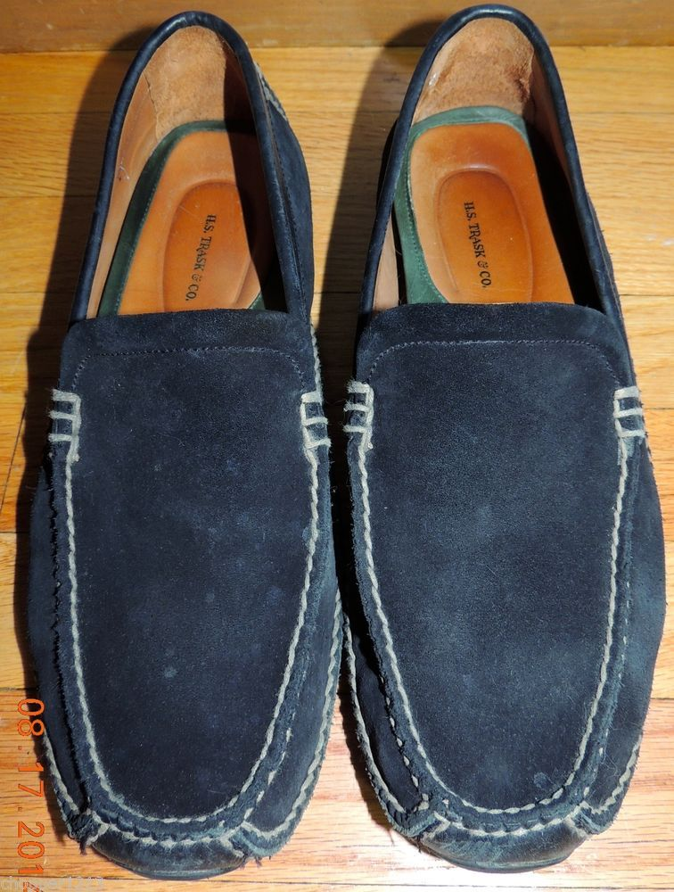H.S.TRASK & CO. Men's Shoes Size : 12W Suede LOAFERS ( Made in Brazil ) #hstrask #LoafersSlipOns