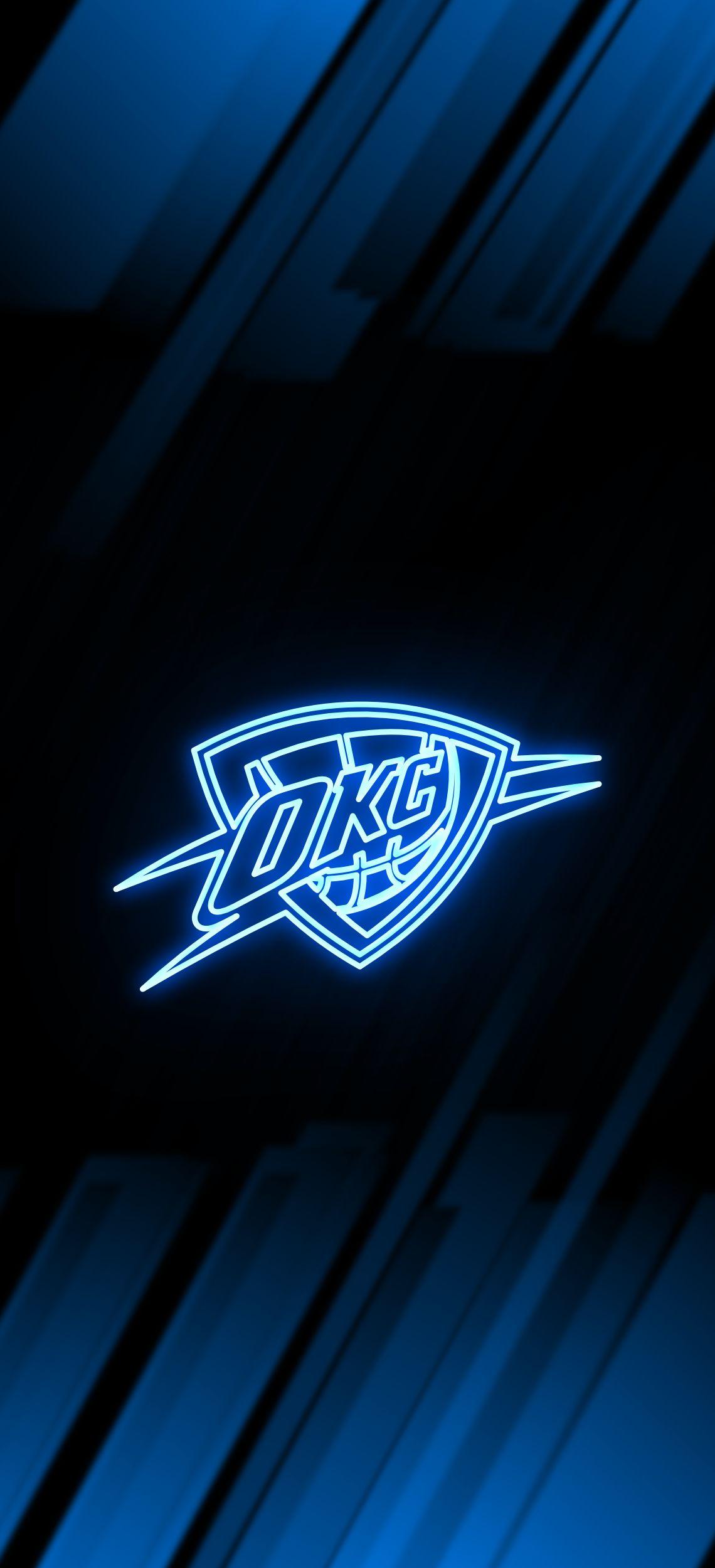 Oklahoma City Thunder Neon Wallpaper Nba Wallpapers Oklahoma City Thunder Nba