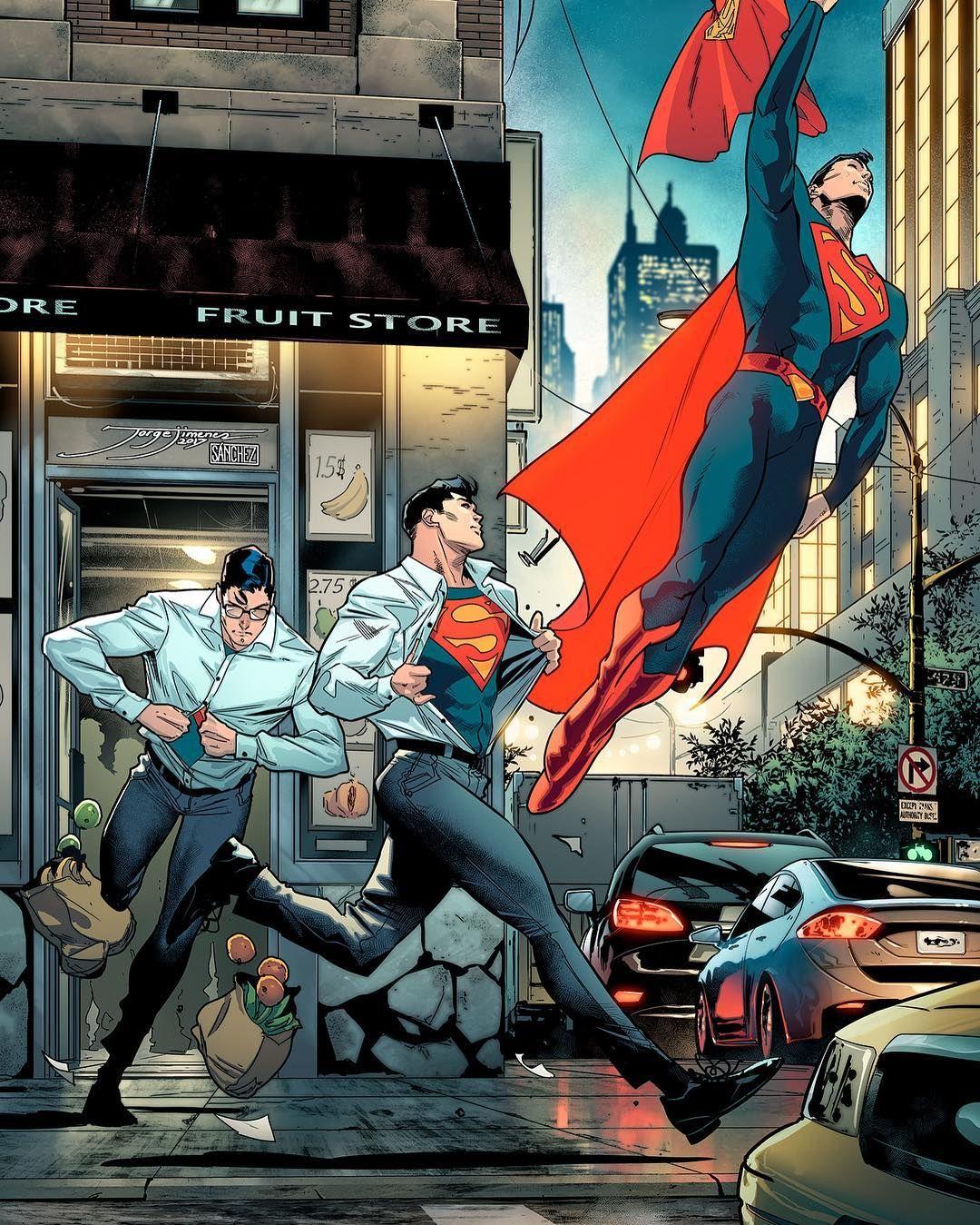 Superman Love Strobic Action Panels Like These By Jorge Jimenez Jorge Jimenez Comicbookartist On Instagram This Lo Superman Comic Superman Art Superman