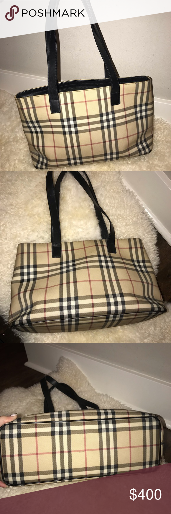 a59b29dd427 Authentic Burberry Tote/shoulder bag 🔅Beige and multicolor Nova check  canvas Burberry mini tote