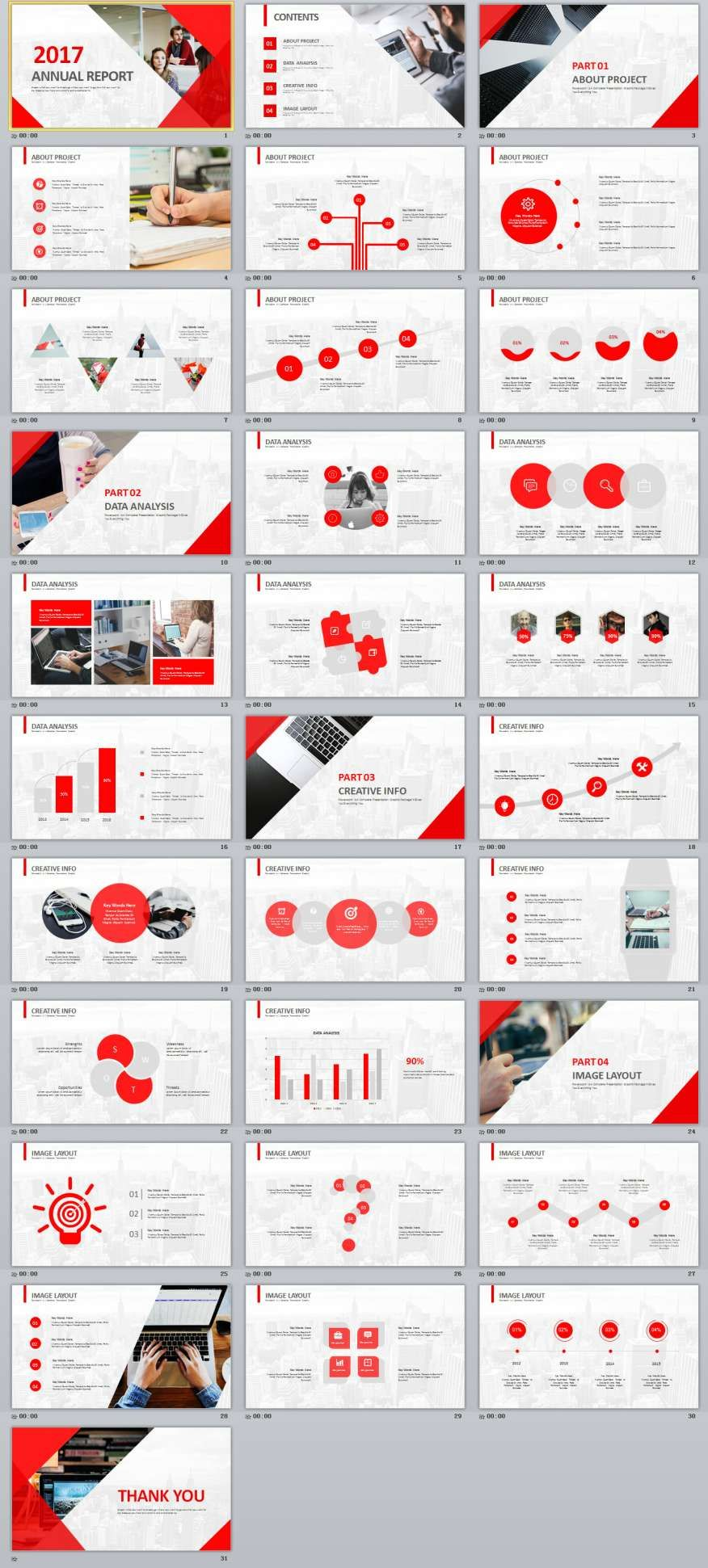 31+ Red Annual Report PowerPoint templates | broshur | Pinterest