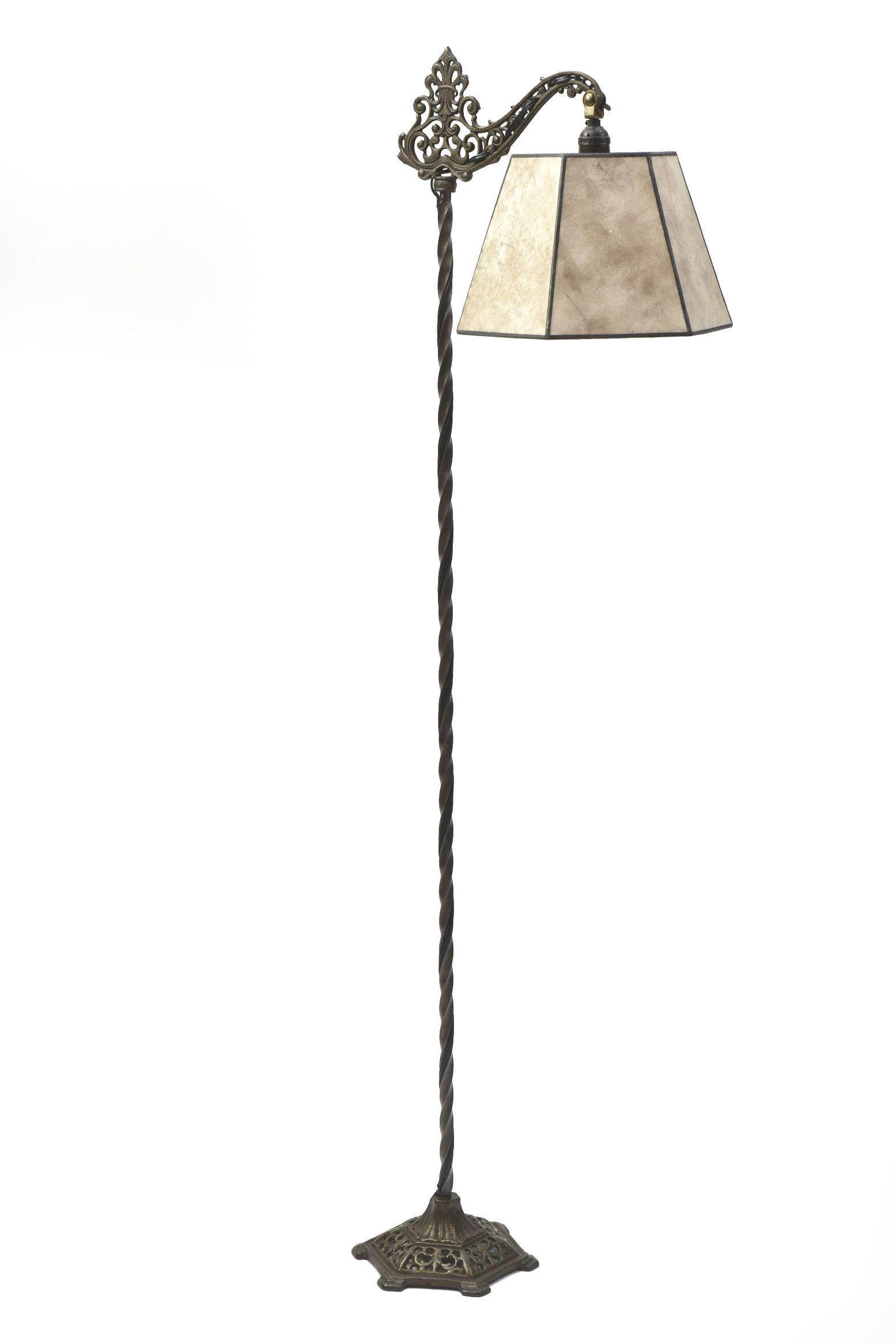 Antique Cast Iron Floor Lamp Bridge