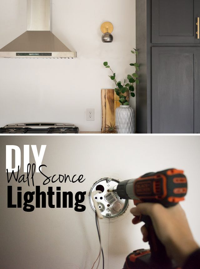 How to Install Wall Sconce Lighting | Wall sconces, Bedrooms and Spaces