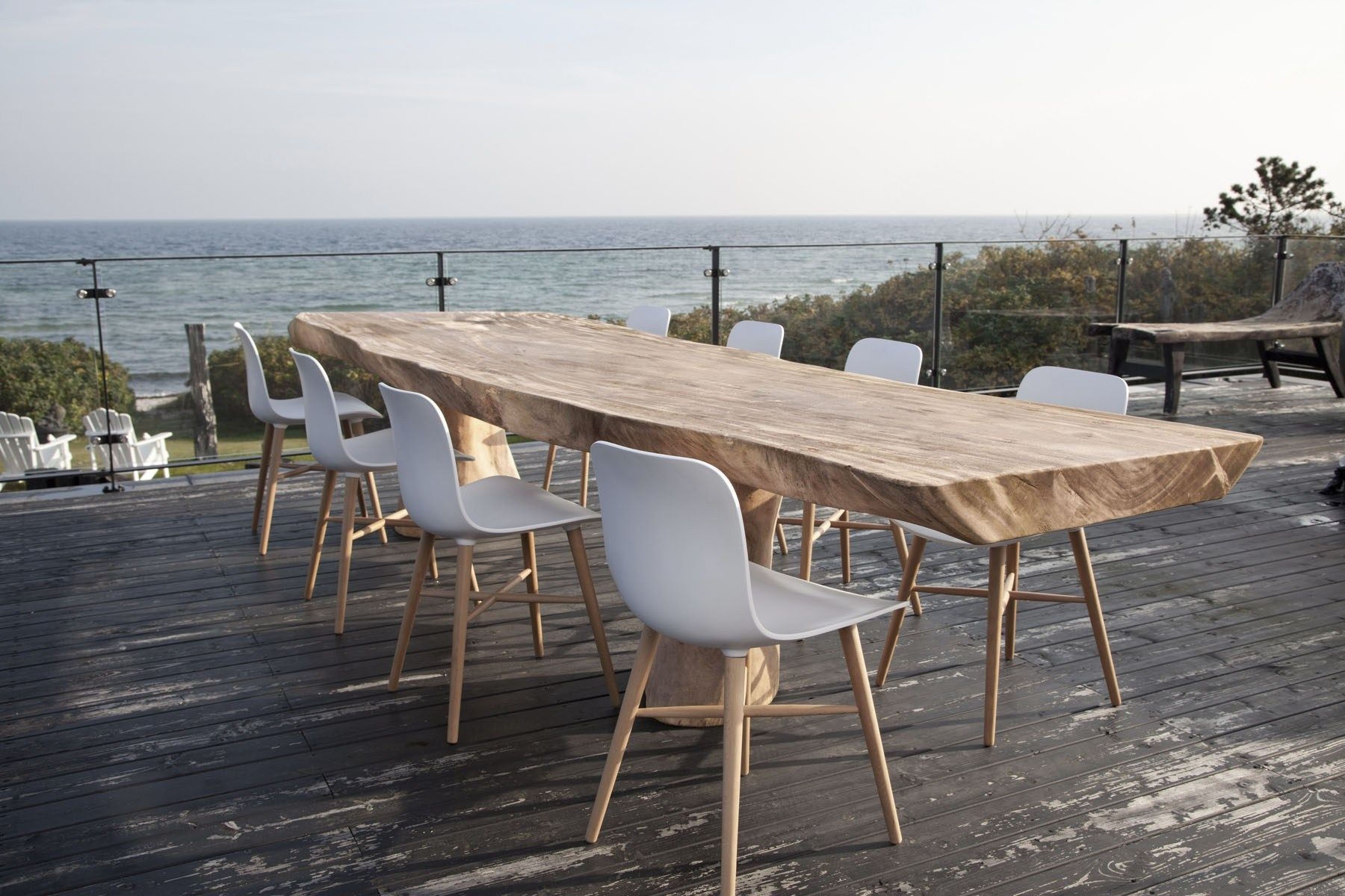Tavolo rettangolare in legno massello ROUGH by NORR11 ...