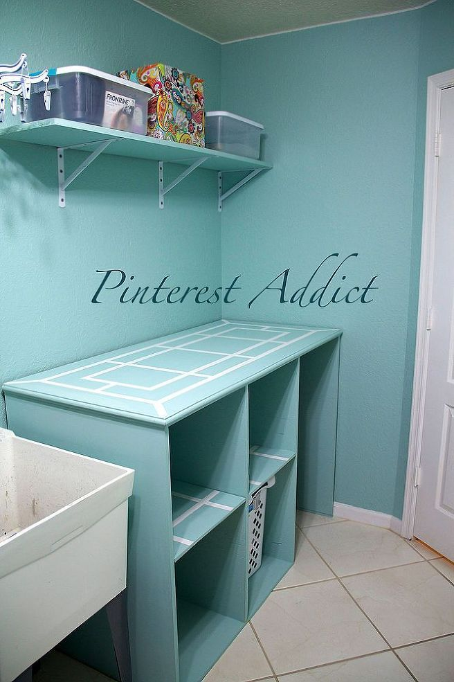 Nice DIY Folding Table And Basket Storage For The Laundry Room | Laundry Folding  Tables, Laundry Storage And Basket Storage