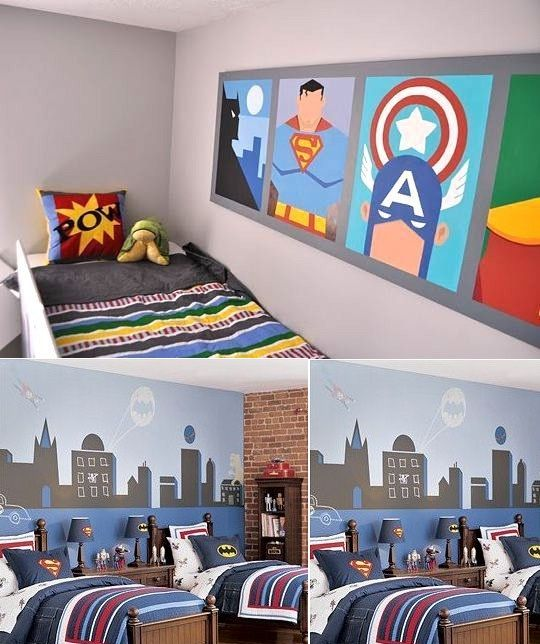 Super Heroes Wall Mural Inspiration Little Boys Rooms Boy Room Decor