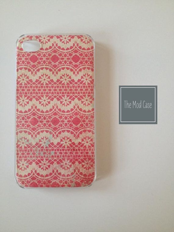 Modern Lace Hand Made iPhone 5 Case, iPhone 4/4s Case. (HM002)