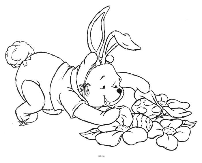 Winnie The Pooh Pictures Picture Winnie The Pooh Easter Coloring Pages Easter Egg Coloring Pages Coloring Pages
