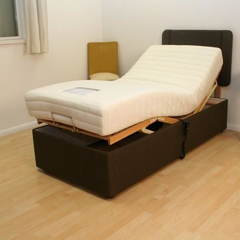 This Ideal 4ft Brown Adjustable Bed Features A Modern Weave
