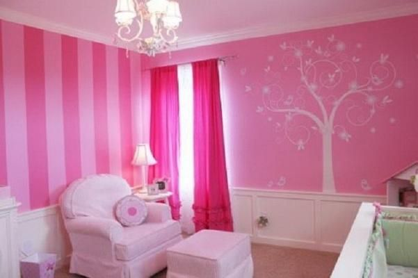 Pink Colour Bedroom Images With Wall Paint
