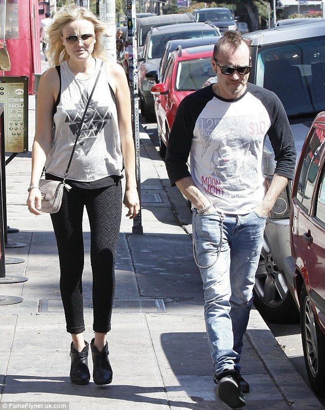 Rock star family: Malin Akerman dined with her husband at Birds Cafe in Los Feliz on Thursday