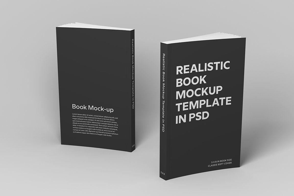 Soft Cover Book Mockup Book Cover Mockup Mockup Templates Book Cover