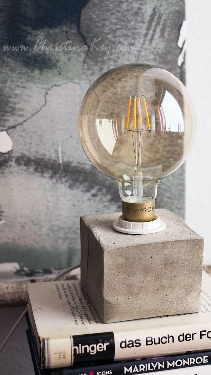 DIY Beton Lampe   Die Perfekte Selbstgemachte Geschenkidee Oder Zum Selbst  Behalten! Crafts / Cement