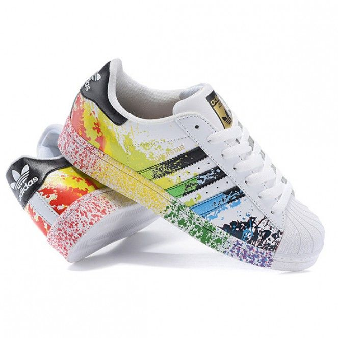 scarpe adidas superstar rainbow