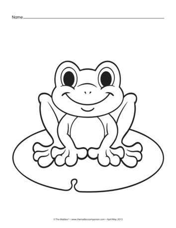Spring Coloring Pages Lesson Plans The Mailbox Frog Coloring