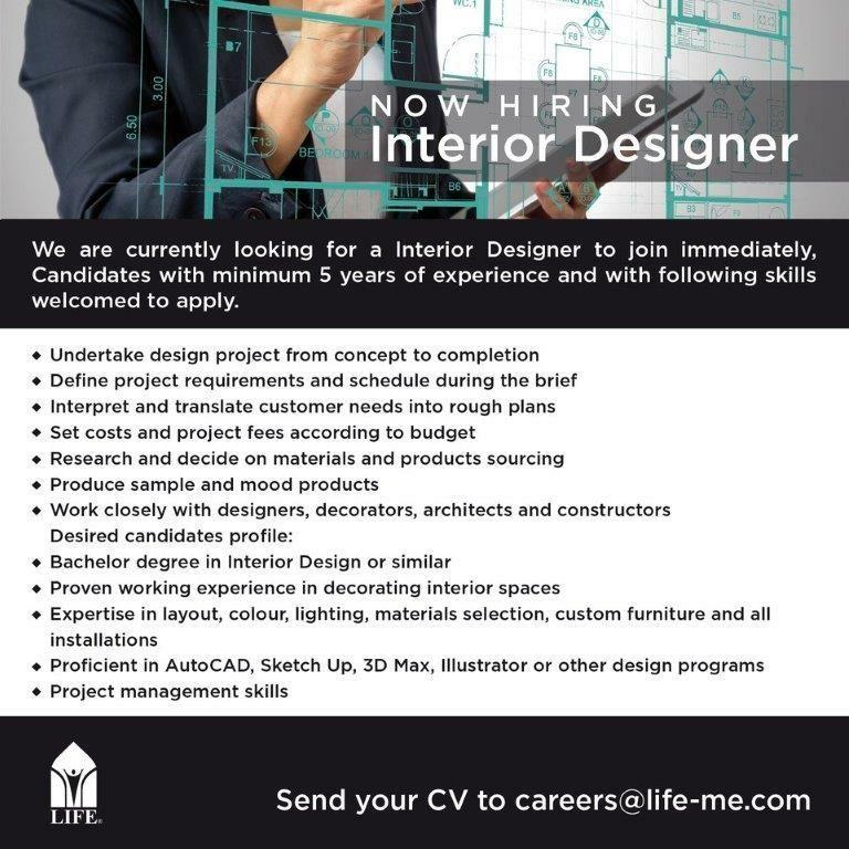 interior design jobs in abu dhabi hiring
