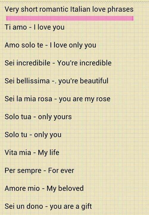 Beautiful Italian Quotes: Love & Appreciation