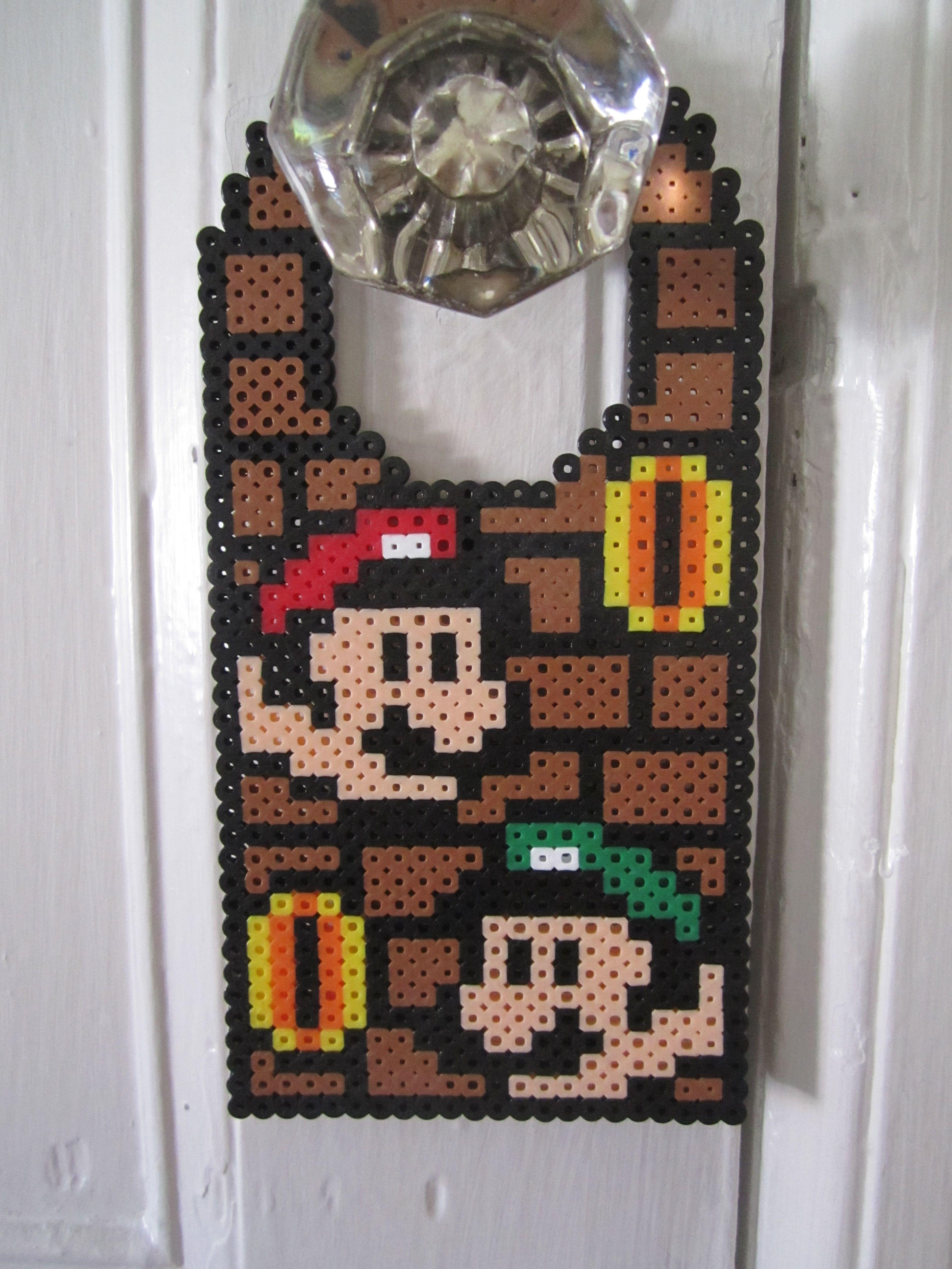 Mario and Luigi Door Hanger Perler Beads by Angela Albergo