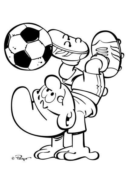 Kleurplaten Voetbal Engels.Sporten Met De Smurfen Auto Electrical Wiring Diagram