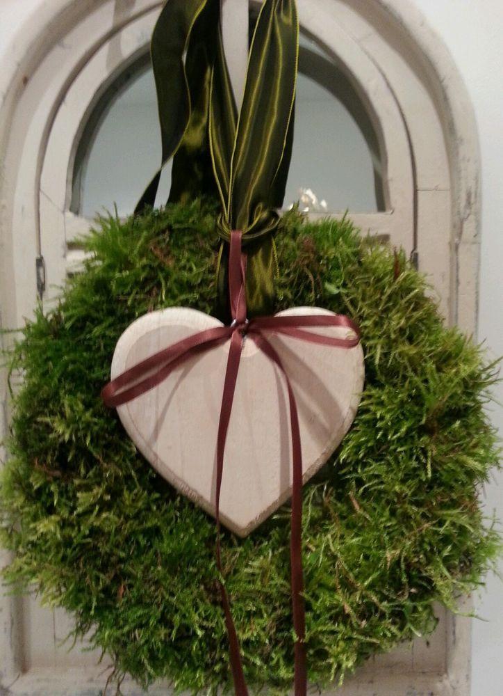 t rkranz deko kranz weihnachten natur impressionen aus moos weihnachtsdeco f r erw. Black Bedroom Furniture Sets. Home Design Ideas