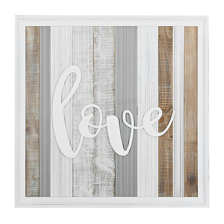 Love Washed Planks Wooden Wall Plaque Wooden Wall Plaques Stylish Wall Decor Wood Wall Plaques