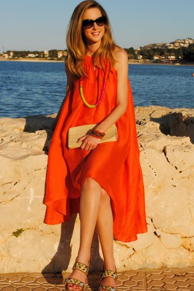 Moda vestidos para boda playa