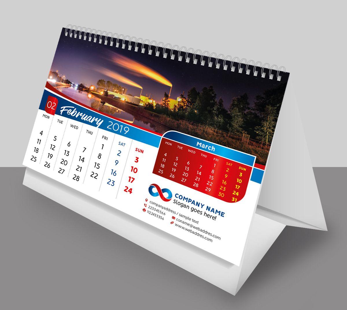 Desk Calendar 2019 Template Desk Calendar Template Calendar Design Desk Calendars