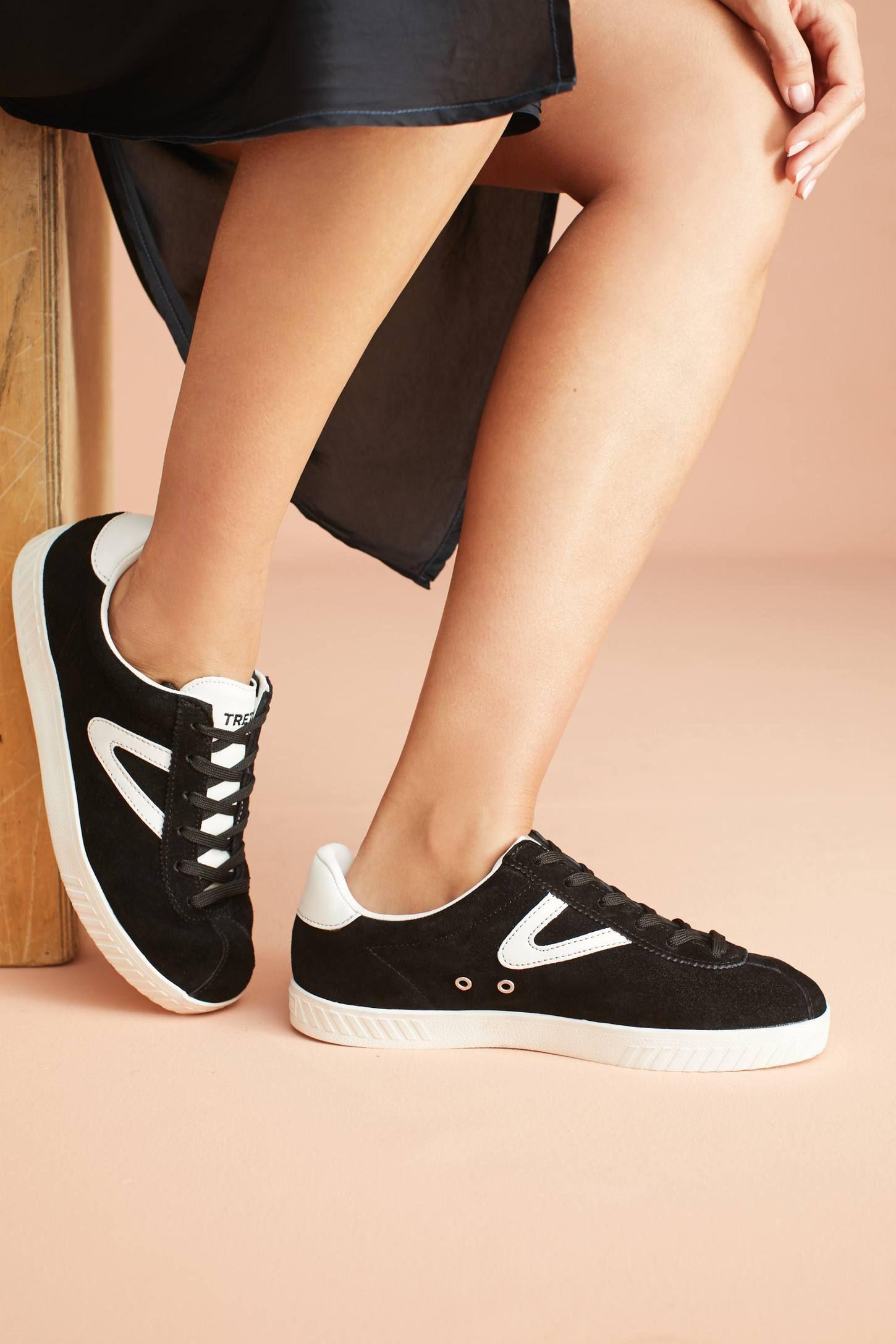 Tretorn Low Top Suede Sneakers