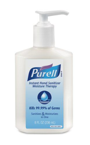 Purell 955212 Pump Bottle Moisture Therapy 8ounce Pack Of 12
