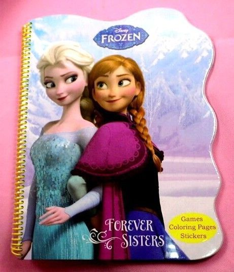 Large FROZEN Colouring Book Hardback 40 Pages W Story 2 Sticker 43x34cm