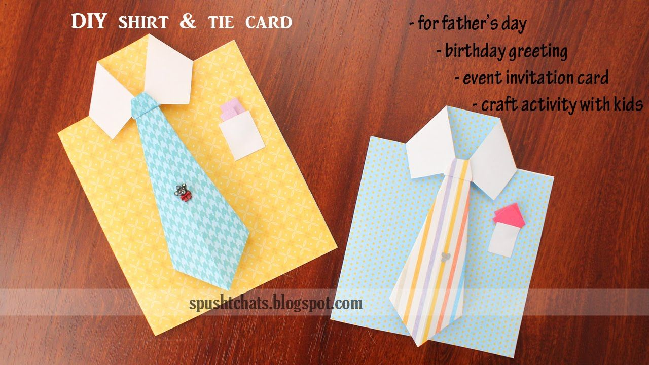Shirt Tie Greeting Card For Birthday Father S Day Dad