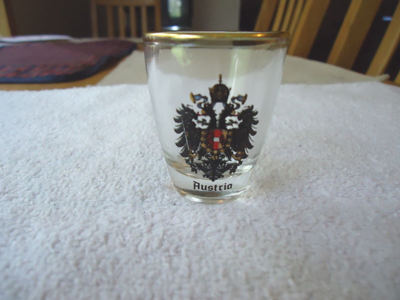 """Vintage Austria Shot Glass """" AWESOME COLLECTABLE SHOT GLASS """""""