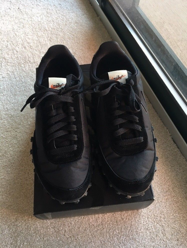 on sale 46497 e742d Nike X CDG Waffle Racer 17 Mens Size 7.5 Black Shoes AA9709 001  fashion   clothing  shoes  accessories  mensshoes  athleticshoes  ad (ebay link)