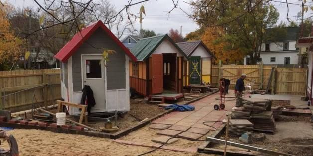 Tiny Houses For Homeless People Put Roofs Over Heads In Time For The Holidays Tiny House Village Tiny House Community Homeless Housing