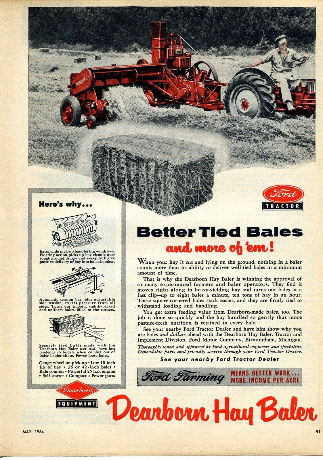 Dearborn Four Row Weeder With Images Ford Tractors Tractors Hay Balers