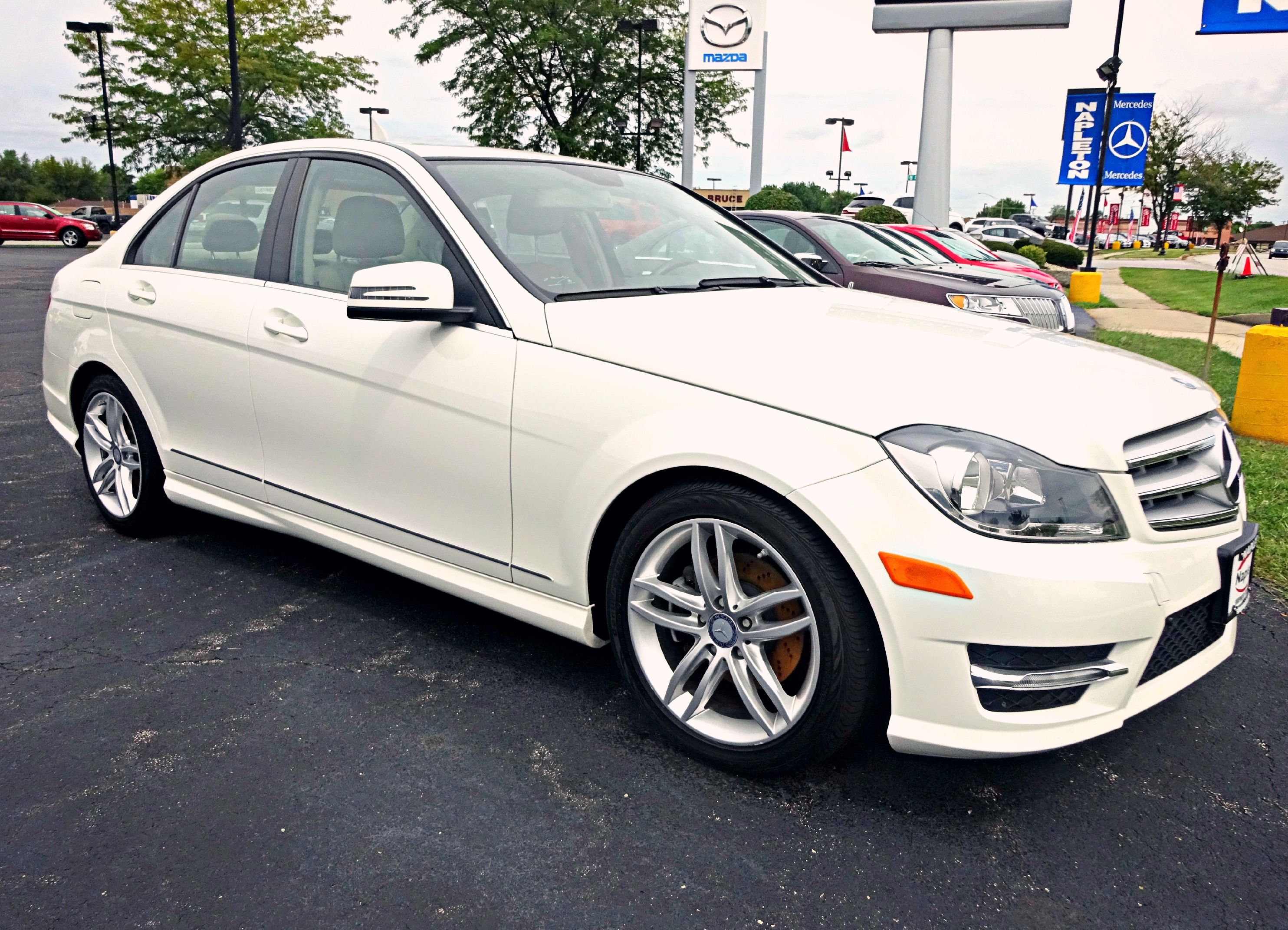 Gorgeous Pre Owned 2012 Mercedes Benz C Class C300 Sport In Arctic
