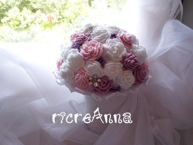 Bouquet Sposa Uncinetto.Bouquet Sposa All Uncinetto Bridal Bouquet Crochet Bouquet