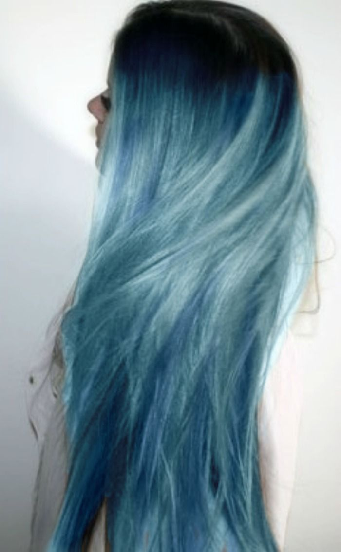 blue ombre hair dye fantasy hair pinterest hair. Black Bedroom Furniture Sets. Home Design Ideas
