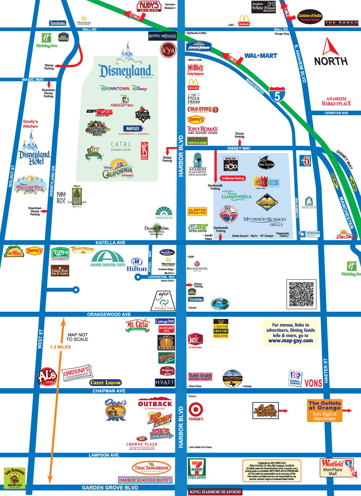 Map Of Area Surrounding Disneyland Stayed At Crowne Plaza