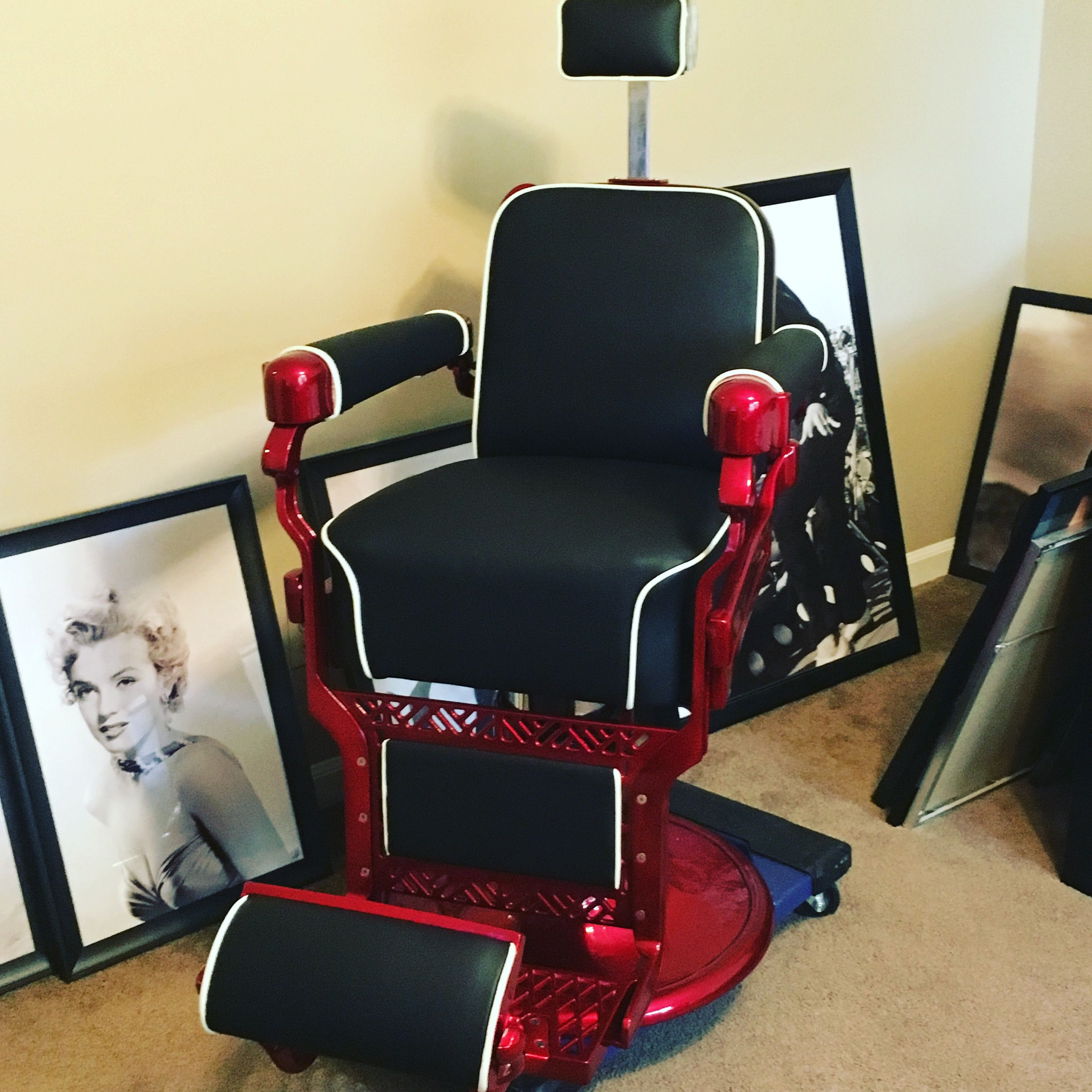 My Belmont Barber Chair that I m redoing to my liking