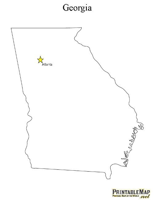 Printable State Capital Map Of Georgia Haddon Learning Time