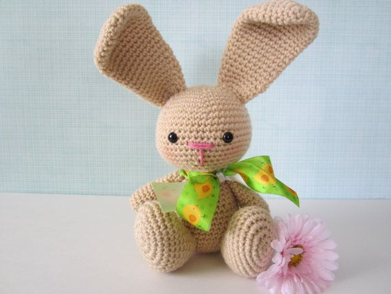 Easter Bunny Plush Stuffed Animal Crochet Stuffed di CROriginals
