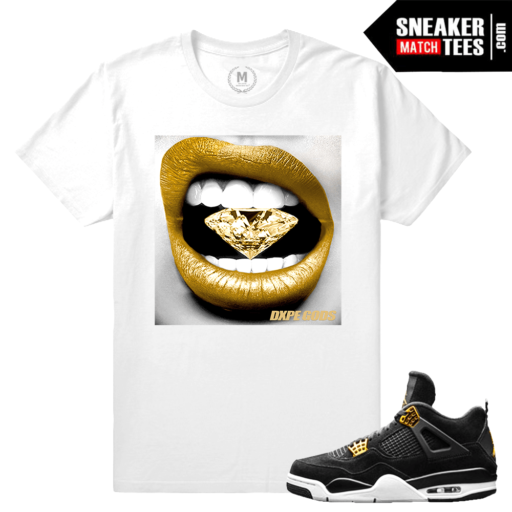 9729225686d Match Jordan 4 Royalty | Diamond Lips | White T shirt in 2019 ...