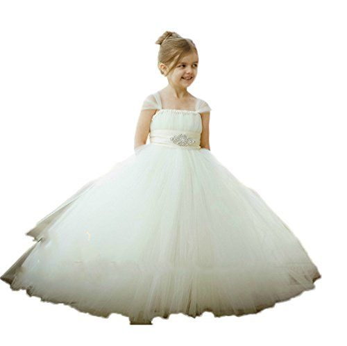 CoCoGirls Girls' Cinderella Tulle Flower Girls Dresses We…