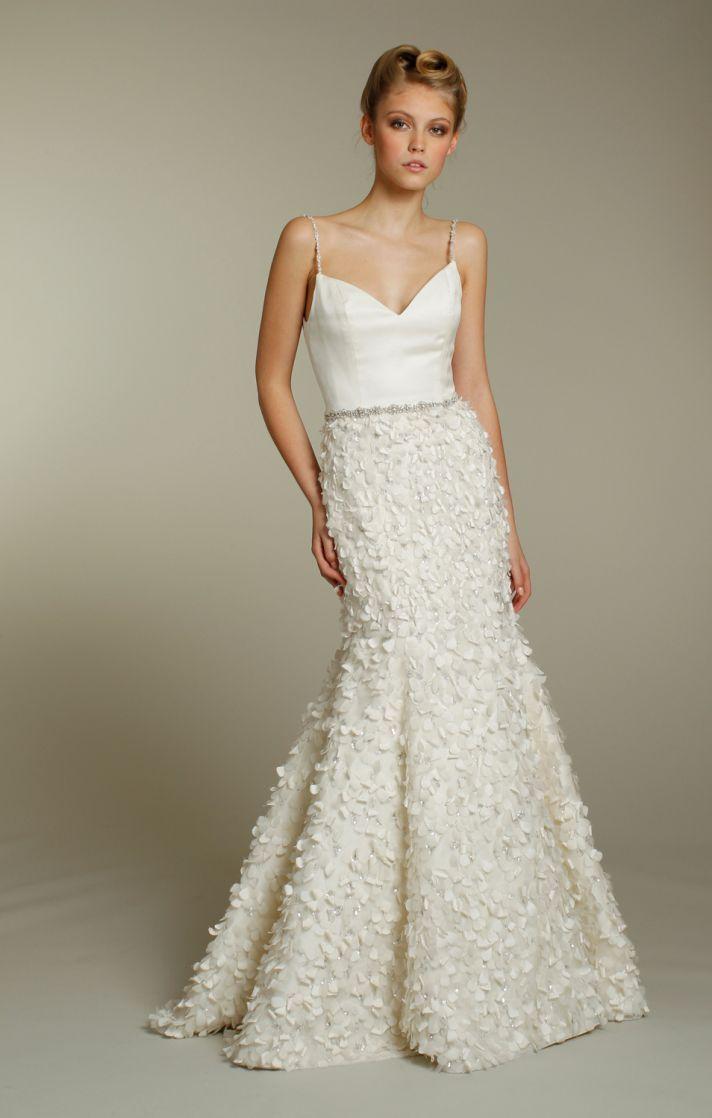 Rhinestone wedding dresses  Ethereal Wedding Dresses by Jim Hjelm Fall   Spaghetti strap